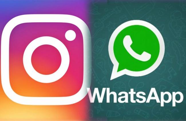 Resultado de imagem para WhatsApp e Instagram