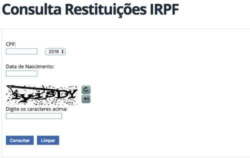 Restituição Imposto de Renda 2017
