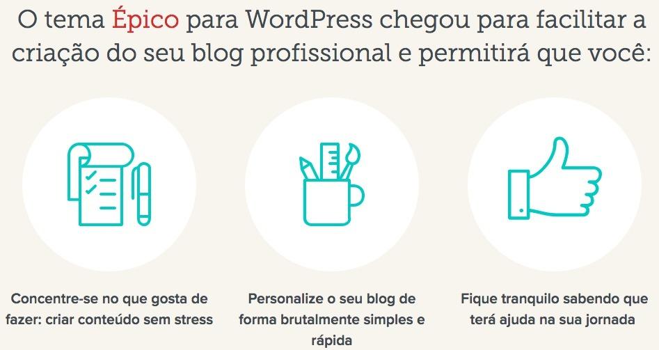 Tema wordpress epico