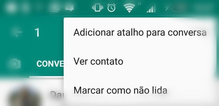 Atalho de Conversa no Whatsapp