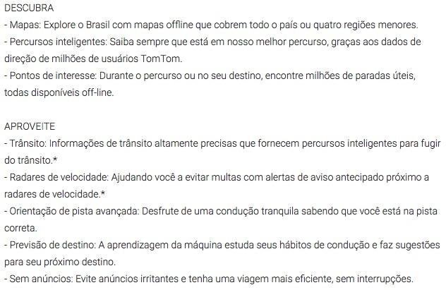 TomTom Go Brasil Funcoes