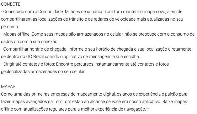 TomTom Go Brasil Funcoes 1