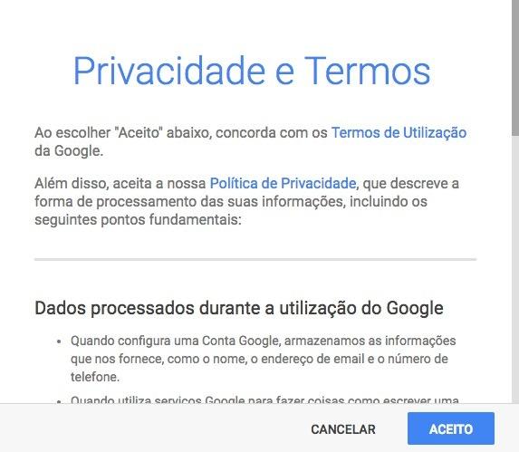 Fazer-Email-no Gmail-privacidade-e-termos