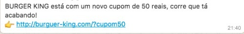 Golpe-no-WhatsApp-Promete-Desconto-de-R$50-no-Burguer-King-1